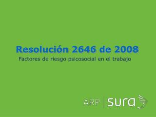 Resolución 2646 de 2008