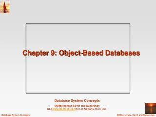 Chapter 9: Object-Based Databases
