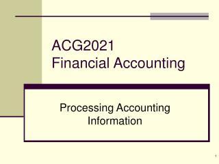 ACG2021 Financial Accounting
