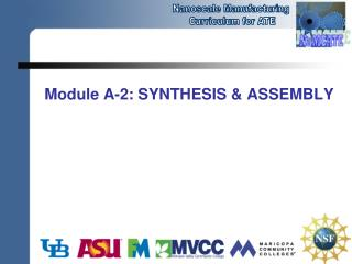 Module A-2: SYNTHESIS & ASSEMBLY