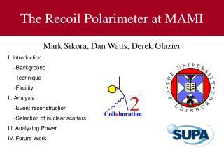 The Recoil Polarimeter at MAMI
