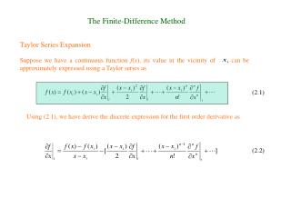 The Finite-Difference Method