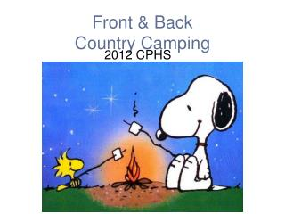 Front & Back  Country Camping