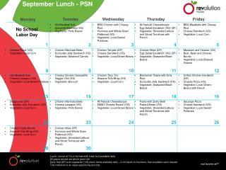 September Lunch - PSN