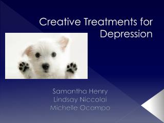 Creative Treatments for Depression