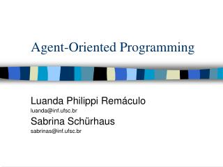 Agent-Oriented Programming