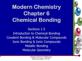 Modern Chemistry Chapter 6 Chemical Bonding