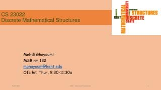 CS 23022 Discrete Mathematical Structures