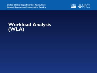 Workload Analysis (WLA)