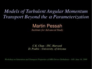 Models of Turbulent Angular Momentum Transport Beyond the   Parameterization