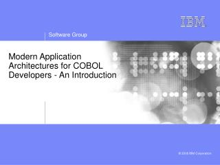 Modern Application Architectures for COBOL Developers - An Introduction