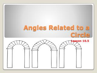 Angles Related to a Circle