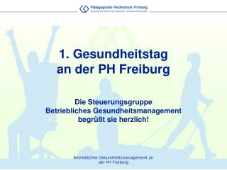 1. Gesundheitstag  an der PH Freiburg