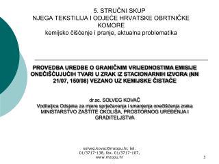 Prijava u Registar postrojenja u kojem se koriste hlapivi organski spojevi (REGVOC obrazac)