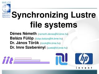 Synchronizing Lustre file systems