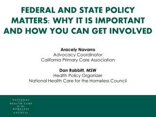 Federal and state policy matters: why it is important and how you can get involved