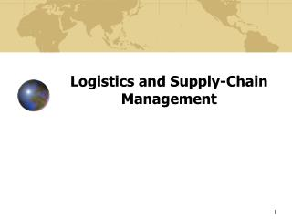 Logistics and Supply-Chain Management