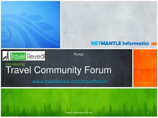 introducing Travel Community Forum