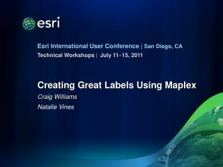 Creating Great Labels Using Maplex