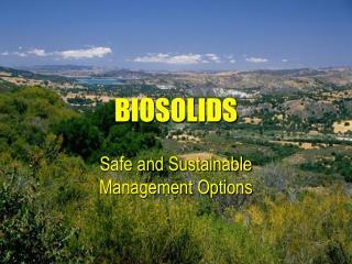 BIOSOLIDS