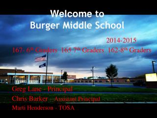 Welcome  to  Burger Middle School