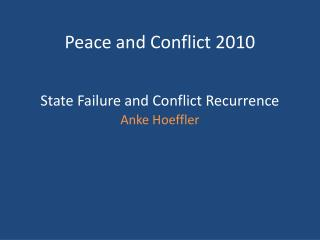 State Failure and Conflict Recurrence