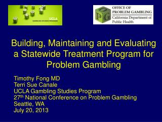 Building, Maintaining and Evaluating a Statewide Treatment Program for Problem Gambling