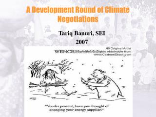 A Development Round of Climate Negotiations