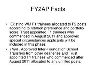 FY2AP Facts