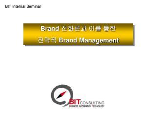 Brand  진화론과 이를 통한 전략적  Brand Management