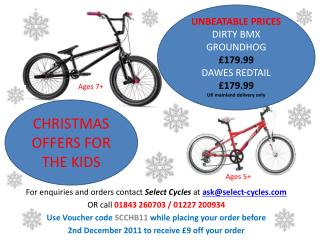 For  enquiries  and orders contact  Select Cycles  at  ask@select-cycles