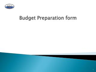 Budget Preparation form