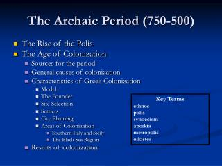 The Archaic Period (750-500)