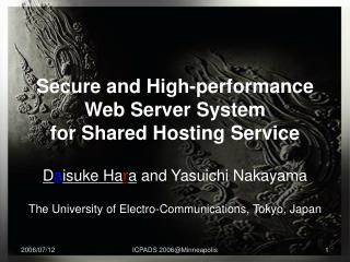 Secure and High-performance Web Server System  for Shared Hosting Service
