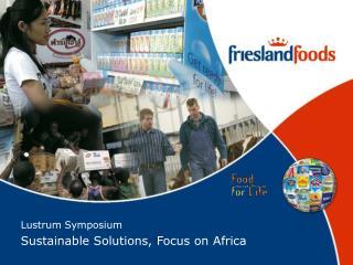 Lustrum Symposium Sustainable Solutions, Focus on Africa