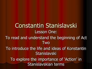 Constantin  Stanislavski