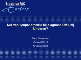 Nut van tympanometrie bij diagnose OME bij kinderen?