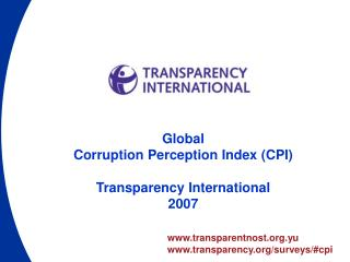 transparentnost.yu transparency/surveys/#cpi