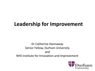 Leadership for Improvement