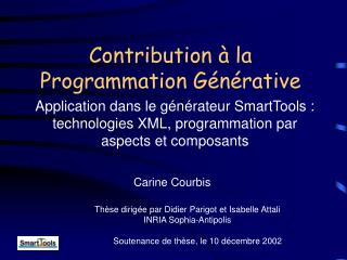 Contribution � la Programmation G�n�rative