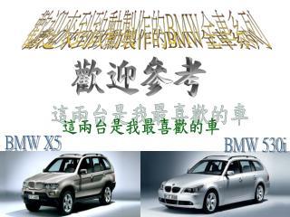 歡迎來到致勳製作的 BMW 全車系列