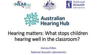 Hearing matters: What stops children hearing well in the  classroom?