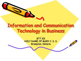 Information and Communication Technology in Business