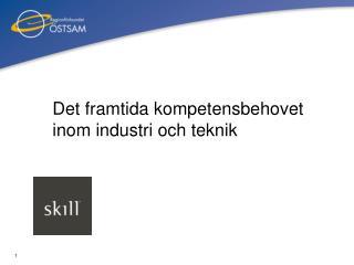Det framtida kompetensbehovet inom industri och teknik