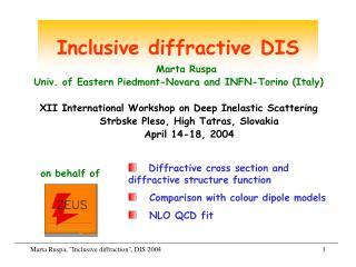 Inclusive diffractive DIS