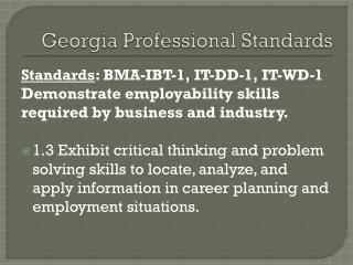 Georgia Professional Standards