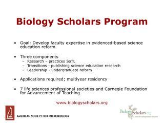 Biology Scholars Program
