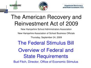 The American Recovery and Reinvestment Act of 2009