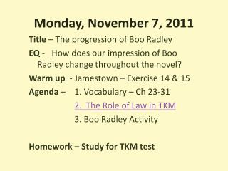 Monday, November 7, 2011