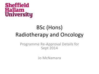 BSc (Hons) Radiotherapy and Oncology